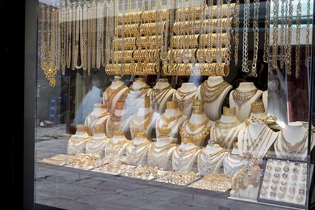 Calle del oro en el Bazar antiguo de Skopje (Macedonia)