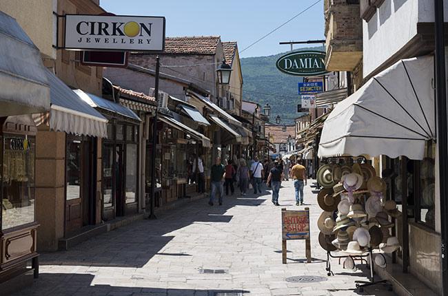 Paseando por el Bazar antiguo de Skopje (Macedonia)