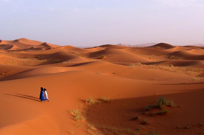 Merzouga, desierto del Sáhara (Marruecos)