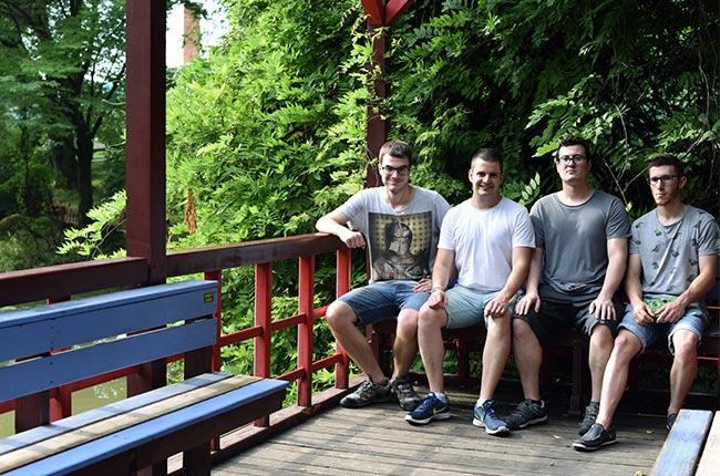 Jardín japonés en el Jardín Botánico de Cluj-Napoca (Rumanía)