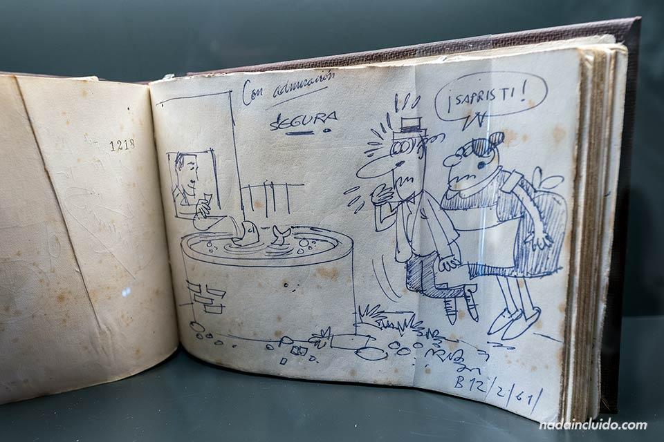Dibujo en el museo Roig Toques de Vilanova i la Geltrú