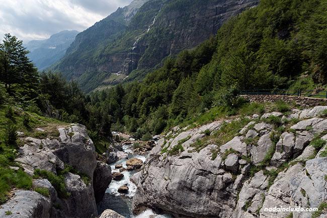 Curso del Río Cinca en el Valle de Pineta del Parque Nacional de Ordesa y Monte Perdido (Sobrarbe, Aragón)