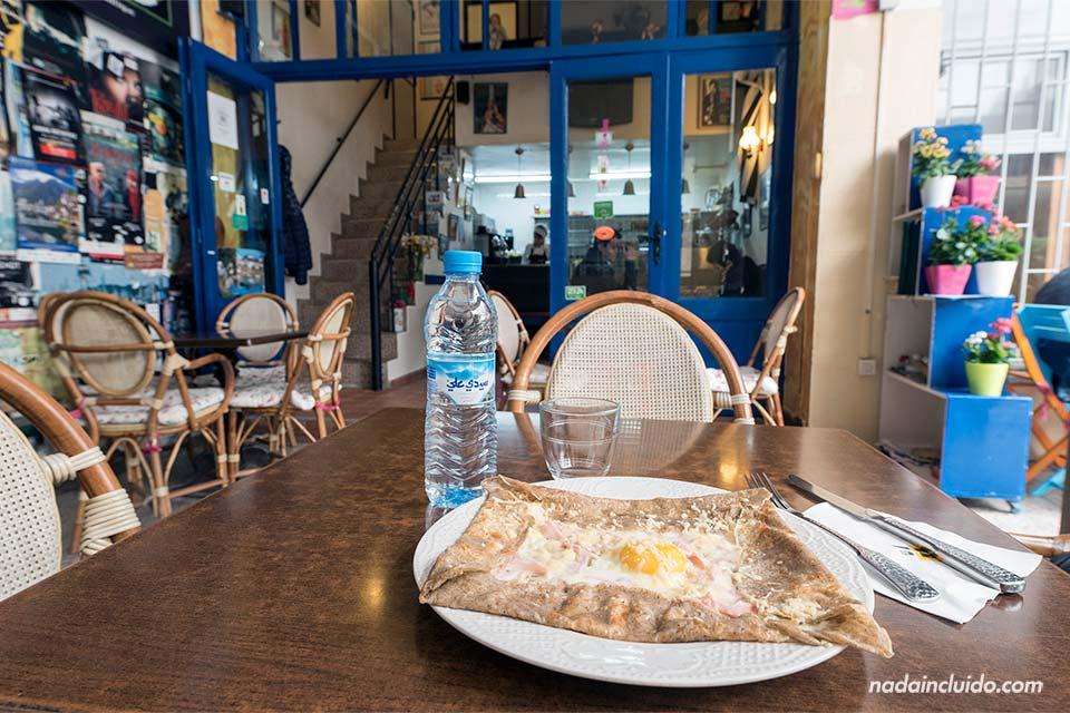 Crepería en Rabat (Marruecos)