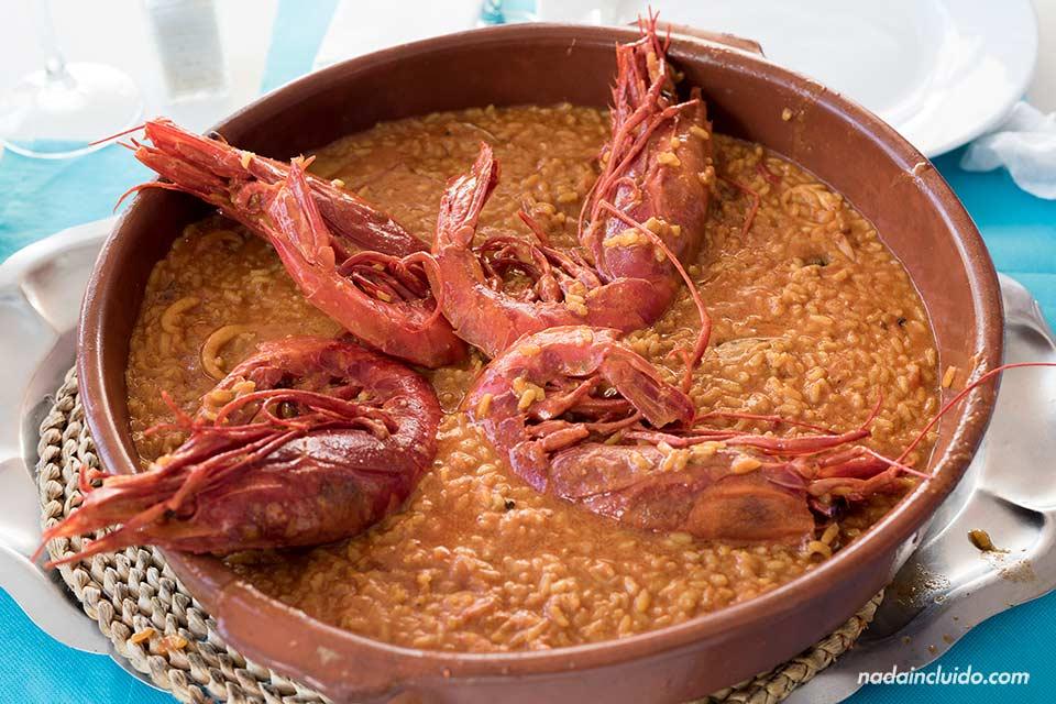 Arroz en el restaurante Los Birras de Garrucha (Almería)