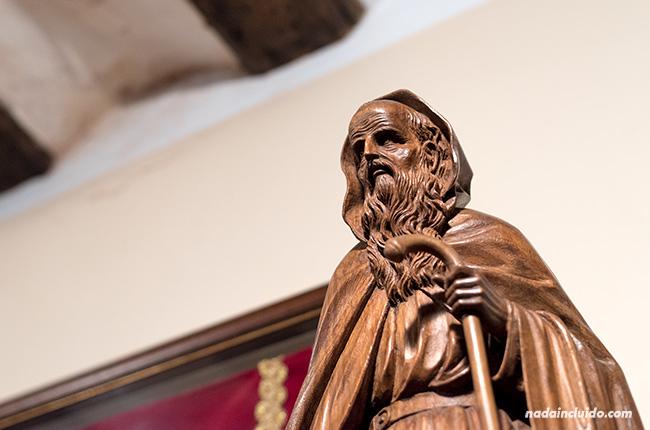 Estatua de Domingo García en el museo de la cofradía de Santo Domingo de la Calzada (Rioja, España)