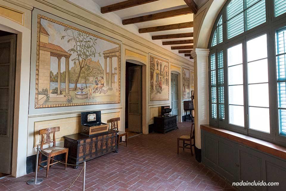 Pasillos del museo Can Papiol de Vilanova i la Geltrú