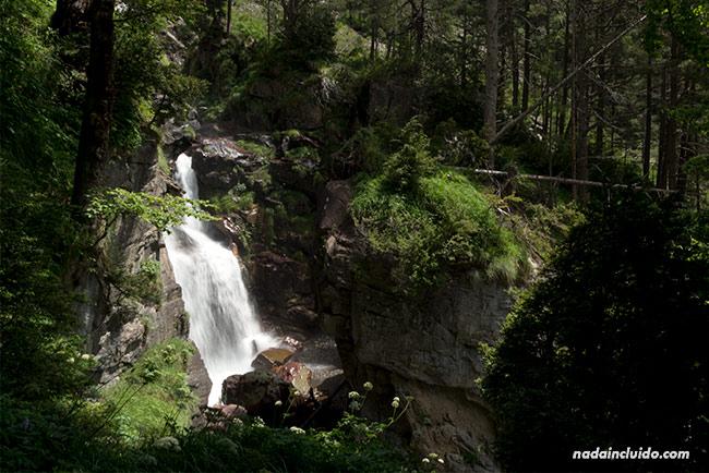 Cascada del Río Cinca en el valle de Pineta, Parque Nacional de Ordesa y Monte Perdido (Aragón)