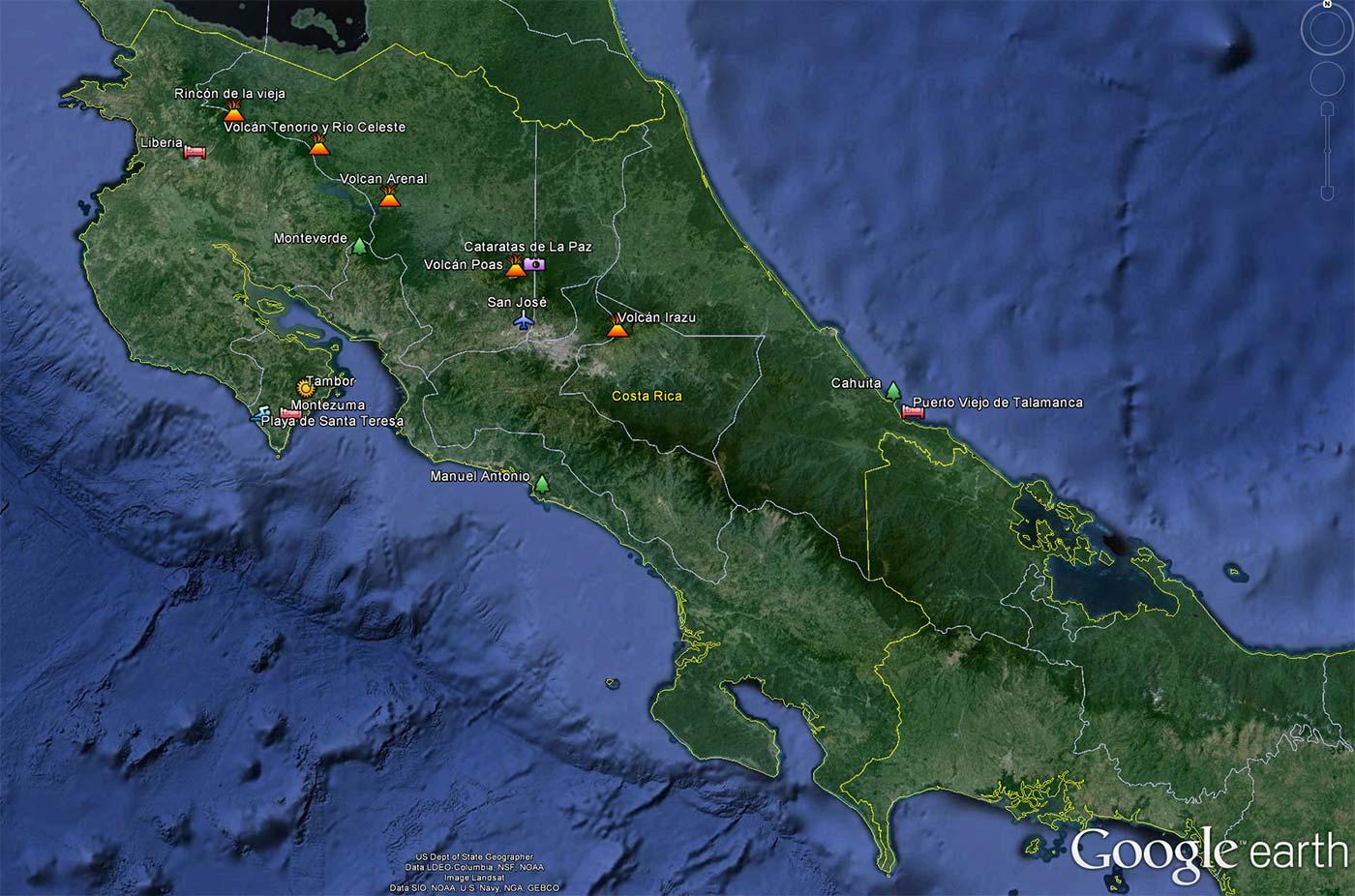 Lugares que visité en mi viaje por Costa Rica