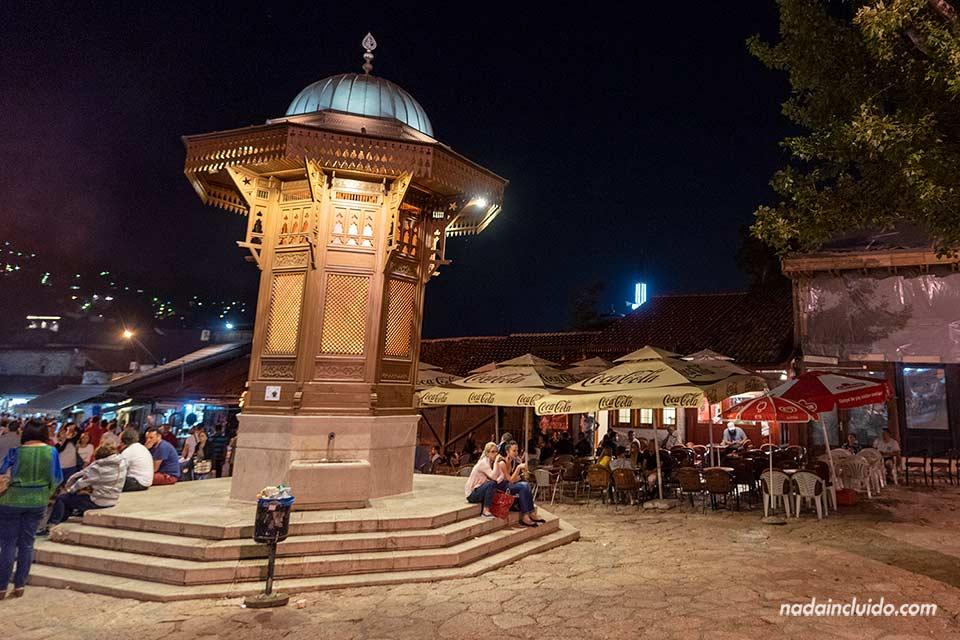 Plaza Sebilij en el Star Most (Old Town) de Sarajevo (Bosnia)