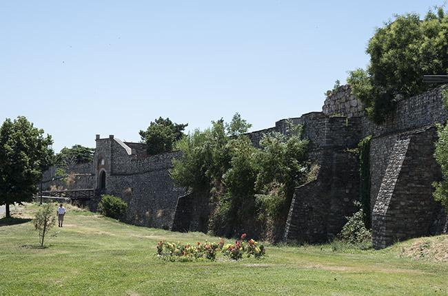 Muralla de la Fortaleza Kale de Skopje (Macedonia)