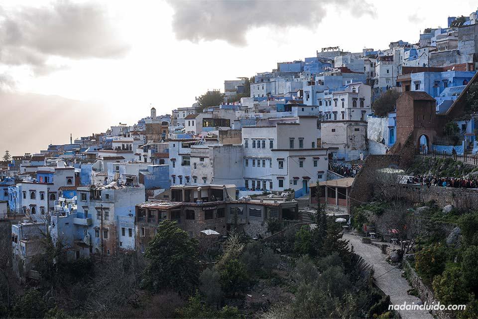 La medina de Chefchaouen desde lejos (Marruecos)
