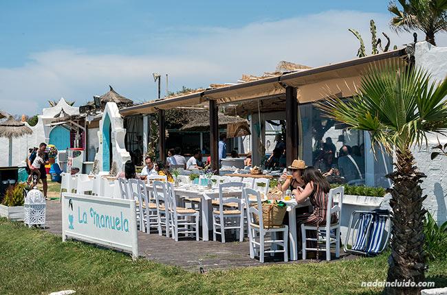 Terraza del restaurante la Manuela de Chipiona (Cádiz)