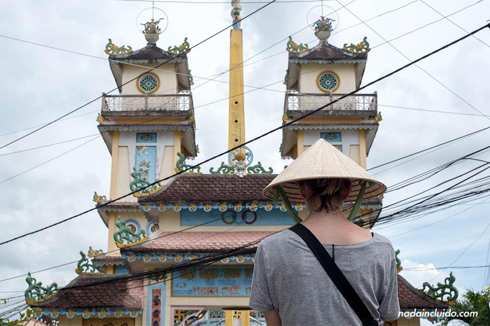 En un Templo Cao Dai en el delta del Mekong (Vietnam)