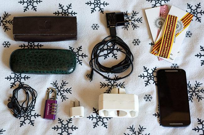 Utensilios de uso frecuente durante los viajes con mochila