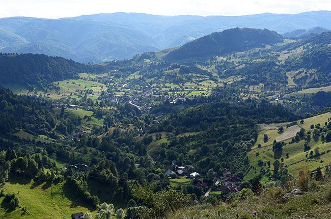 Vistas de Transilvania desde lo alto (Rumanía)