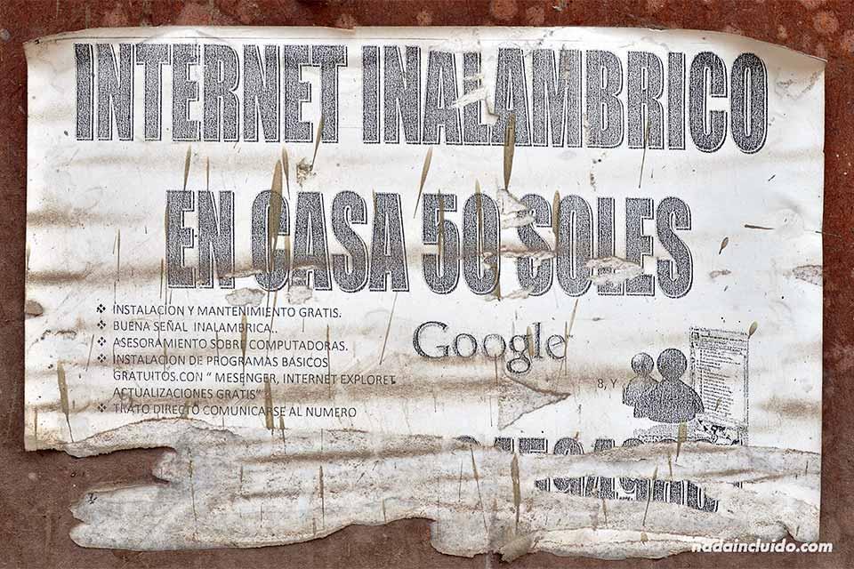 Internet inalámbrico en Jicamarca, un barrio pobre a las afueras de Lima (Perú)