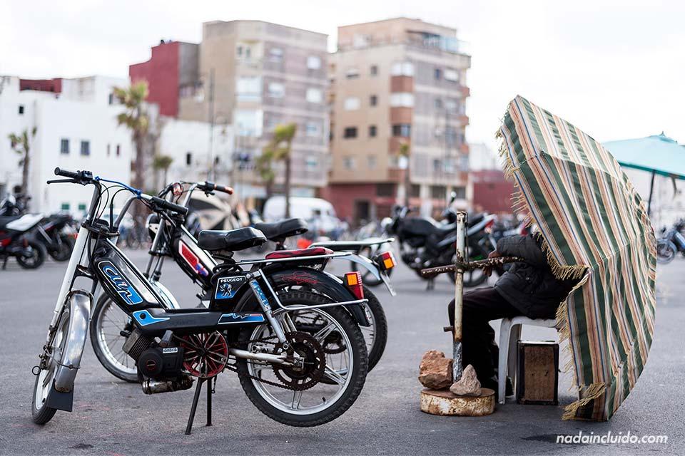 Parking de motos en Rabat (Marruecos)