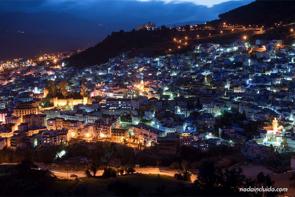 Noche en Chefchaouen (Marruecos)