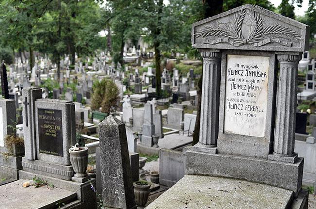 Tumbas en el cementerio central de Cluj-Napoca (Rumanía)