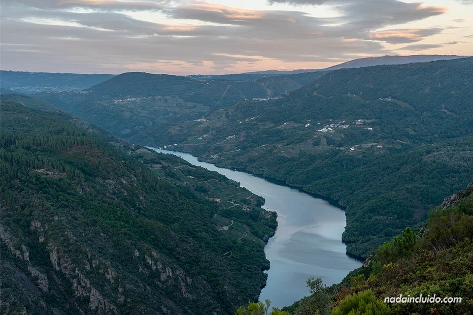 Vistas del río Sil desde los Balcones de Madrid, Ribeira Sacra (Galicia)