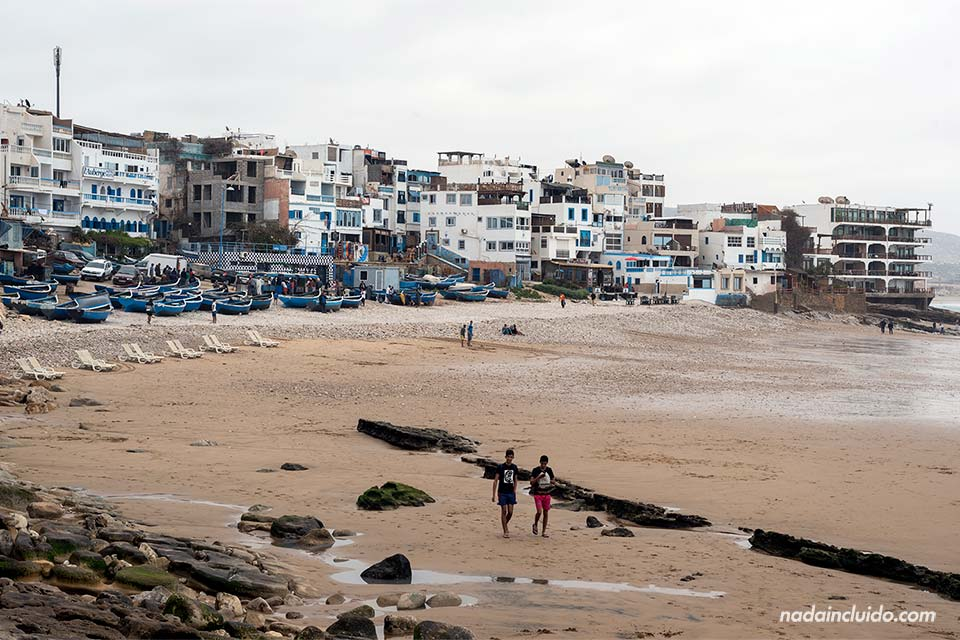 Taghazout desde la playa (Marruecos)