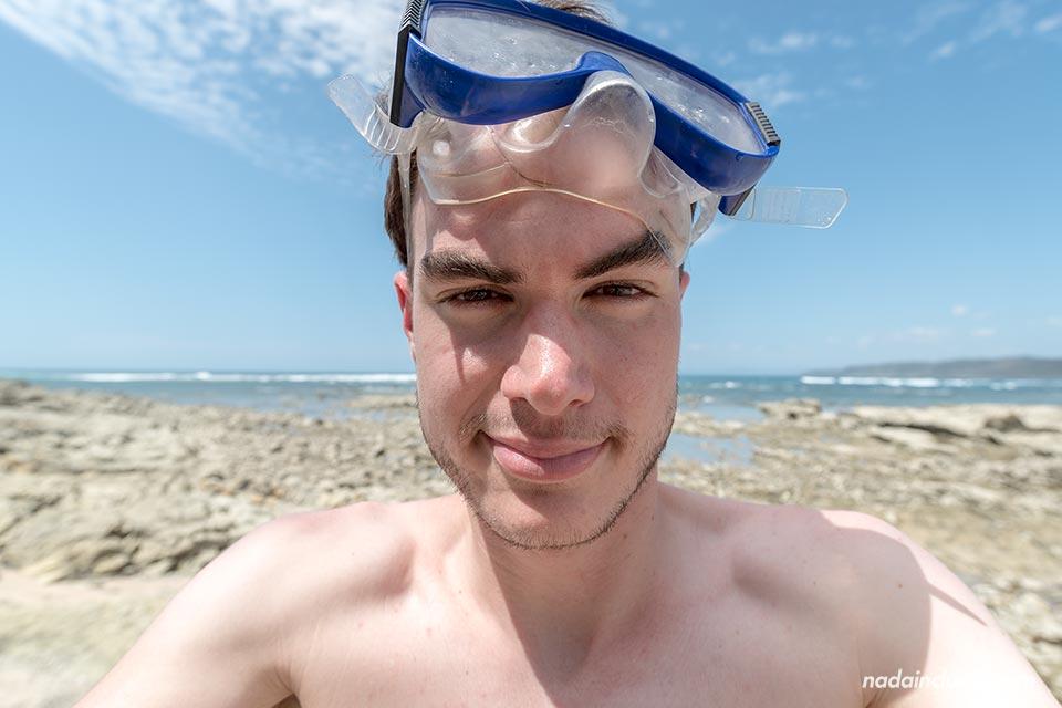 Haciendo Snorkel en Costa Rica
