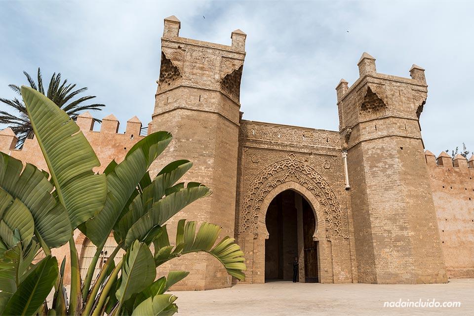 Puerta de la necrópolis de Chellah en Rabat (Marruecos)