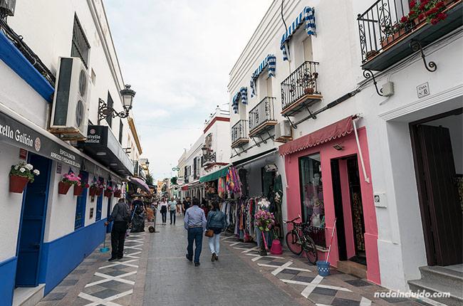 Calle Isaac Peral en Chipiona (Cádiz)