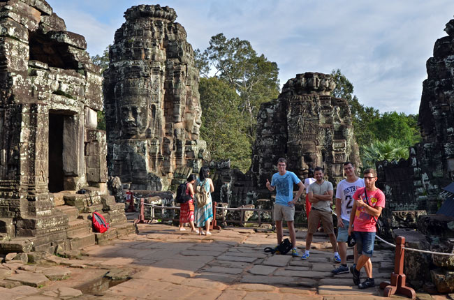 En Bayon, dentro del Angkor Thom (Siem Reap, Camboya)