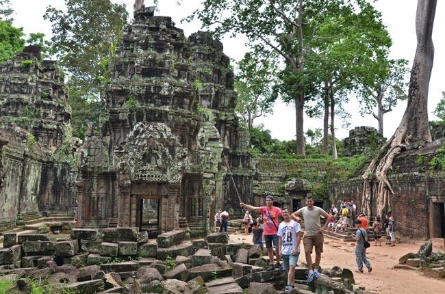 En el templo Ta Prohm, en Angkor (Siem Reap, Camboya)