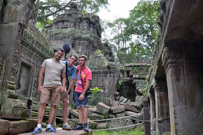 En el Templo Ta Prohm en Angkor (Siem Reap, Camboya)