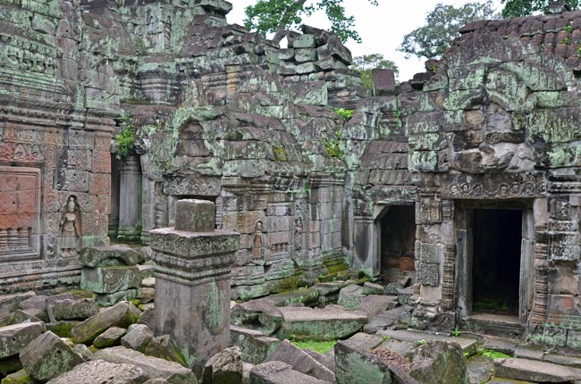 Plaza en el Templo Preah Khan en Angkor (Siem Reap, Camboya)