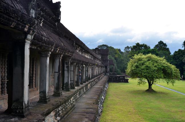Jardines que rodean el Angkor Wat (Siem Reap, Camboya)