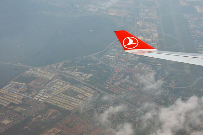 En el avión de Madrid a Estambul