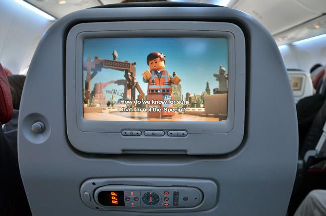 Avión Turkish Airlines, pantalla en el asiento