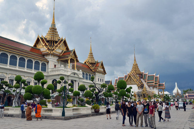 En el Chakri Maha Prasat en el Gran Palacio de Bangkok (Tailandia)
