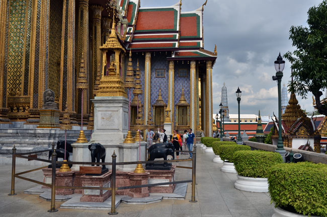 Exterior del Gran Palacio de Bangkok (Tailandia)