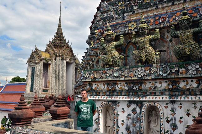 En el Temple of Dawn o Wat Arun en Bangkok (Tailandia)