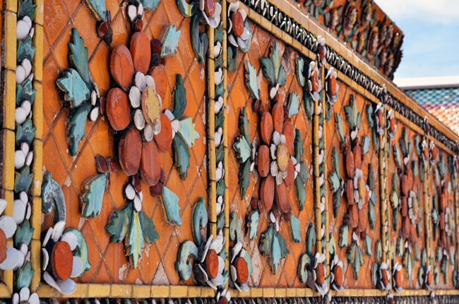 Detalle decorativo del Templo Wat Pho de Bangkok