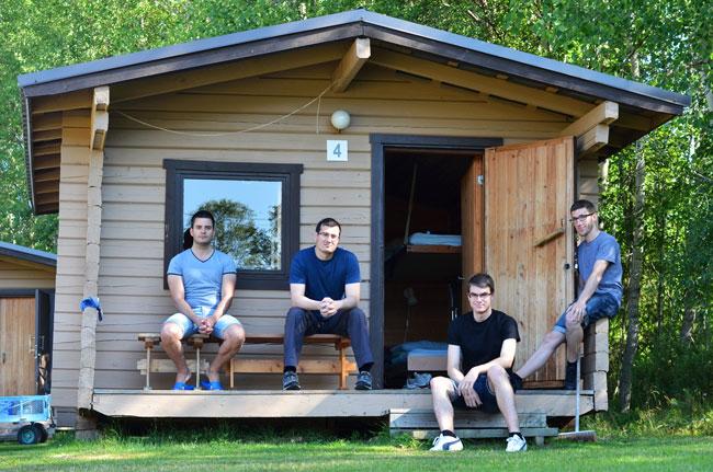 Nuestro bungalow en el camping de Sodankyla (Finlandia)