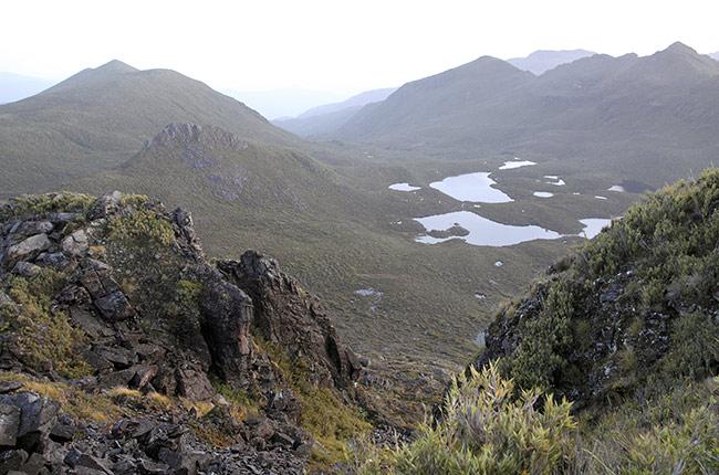 Vistas en el Cerro Chirripó
