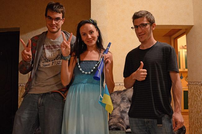 Natali, nuestra anfitriona en Donetsk (Ucrania)