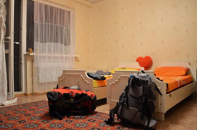 Nuestra habitación en el apartamento de Natali, Donetsk (Ucrania)