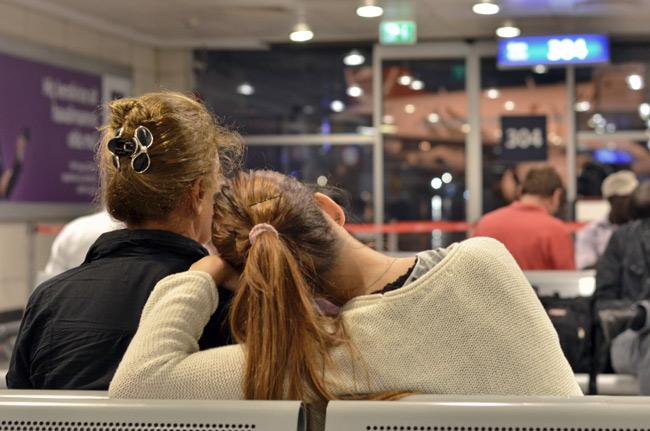 Sala de espera en el aeropuerto de Estambul (Turquía)
