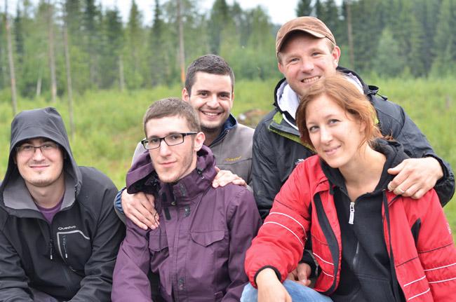 Con nuestros anfitriones en Petalax (Finlandia)