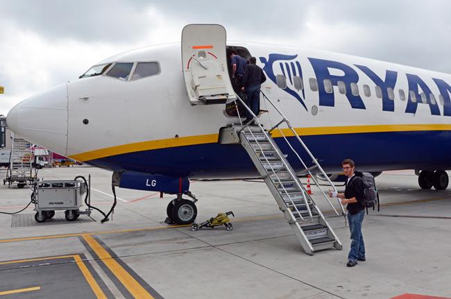 Cogiendo el avión Gdansk - Girona