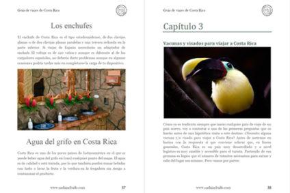 Captura de la Guía de Viajes de Costa Rica de Nada Incluido