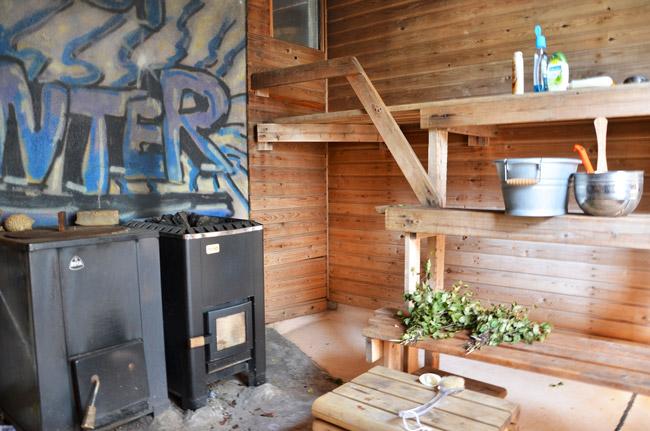 Sauna finlandesa en Kaajani
