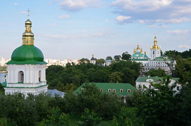 Bóvedas doradas en Kiev