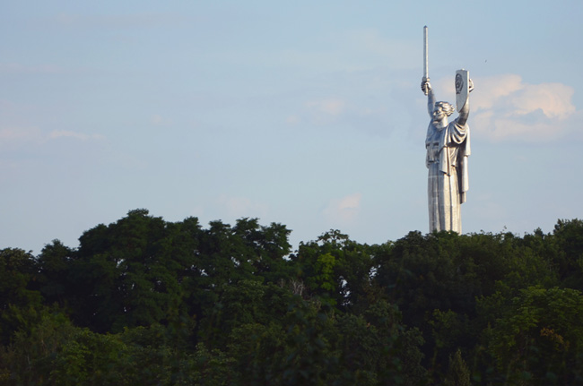 Estatua de la madre patria, Kiev (Ucrania)